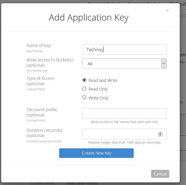 Key-auswählen-menue