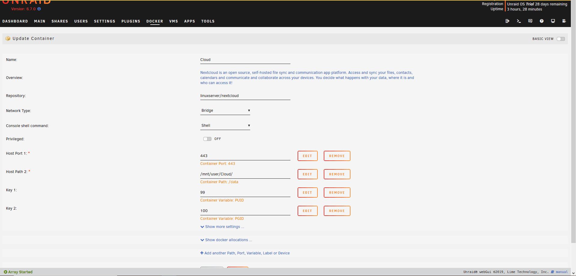 nextcloud-settings