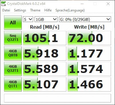 Transcend 32GB JetFlash 710 USB 3.1 Gen 1 USB Stick TS32GJF710S Test